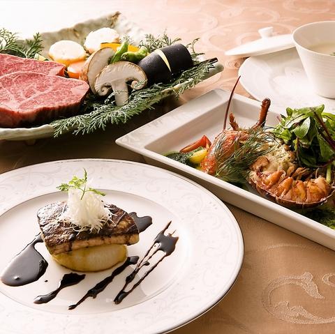 吟味し、選び抜いた黒毛和牛、新鮮魚介、その他高級食材を取り揃えた鉄板焼きのお店。