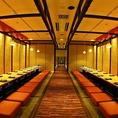 渋谷での大人数での宴会ならお任せ下さい。各種宴会に最適な飲み放題付の宴会コースは豊富にご用意しております。飲み放題付の宴会コースに+500円で全100種以上が飲み放題になるプレミアム飲み放題にグレードアップが可能です。渋谷店では最大48名様迄の大人数での宴会に対応可能です。