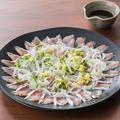 料理メニュー写真■春告魚の北海薄造り~ポン酢がけ~