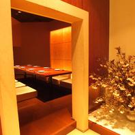落ち着きがある魅力的な個室暖色が彩る愉しいひととき