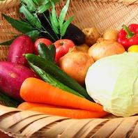 旬の野菜を農家から仕入れて作るオリジナルメニュー♪