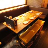 7席×6卓あるので人数に合わせてお席へのご案内が出来ます♪お席も広いのでゆっくりと飲み会が出来ます。他にもお席を繋げれば11~14名様など座れるので、いつでも人数はご相談ください!