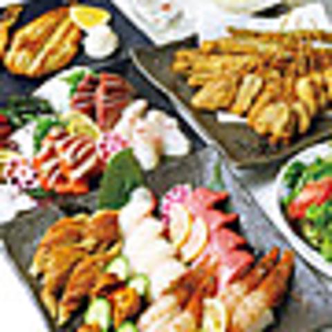 【お料理のみ】★満腹コース★4400円♪お造り5種や揚物盛り合わせなど◎