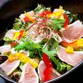 料理メニュー写真【奄美直送!期間限定】地鶏たたきサラダ