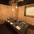 様々なタイプの個室も取り揃えております。デートにぴったりな完全個室もお洒落な雰囲気漂う贅沢空間です