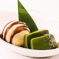 料理メニュー写真アイスクリームと京宇治抹茶の葛練り