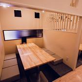 完全個室席と半個室席をご用意しております。