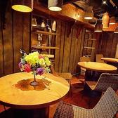 カフェのようなお洒落な円卓のお席♪斬新なインテリアが冴えるデザイナーズ空間は、「隠れ家」的な雰囲気も魅力!少人数からでも気軽にご利用頂けます。