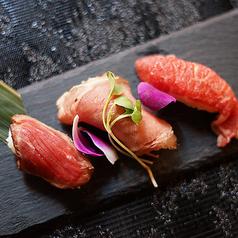 肉寿司三種盛り