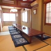 広々とした二階のお座敷席は法事や祝い事などのご利用に重宝されています。