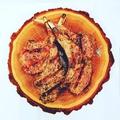 料理メニュー写真ラムチョップのグリルとアンチョビバター/1本