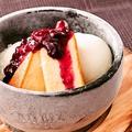 料理メニュー写真ハスカップチーズケーキ ストーンアイス