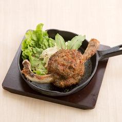 料理メニュー写真マンガ肉ハンバーグ!