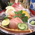 料理メニュー写真お刺身の3種盛り合わせ(約1~2人前)