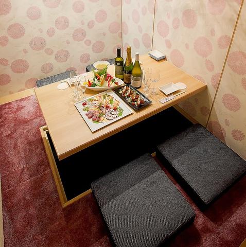 宴会にも普段使いにも必須の個室…ウメ子の家なら2名~最大65名までと、個室が充実。