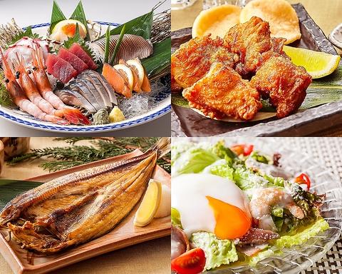 刺身・焼き物・揚げ物・サラダなど、豊富なメニューを安心価格でお楽しみ頂けます♪