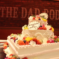 【結婚式二次会・パーティーに】パティシエ特製ケーキ