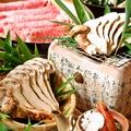 料理メニュー写真【旬の季節コース】(秋)⇒牛しゃぶ・松茸コース