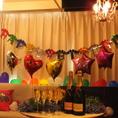 【お誕生日にサプライズ♪】個室も無料で装飾いたします☆部屋に入った瞬間もうサプライズ大成功☆