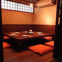 テーブルを囲んで座る、団欒の席にピッタリの個室♪