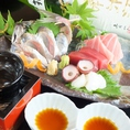 【海石】人気メニューランキング第1位『季節の鮮魚お造り三種盛り合わせ』