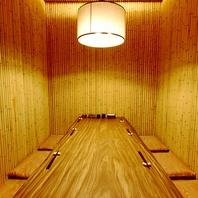 上質な時間を演出する、完全個室席を各種ご用意。