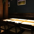 簡易的ではありますが、仕切りのあるテーブル席です。デートや仕事終わり、家族でのお食事など様々なシーンでご利用頂けます。