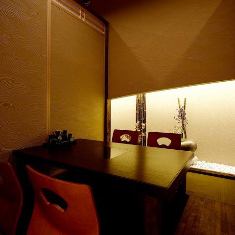 当店は全席完全個室になっておりますので、2名様からでも完全個室でお食事をしていただけます。江坂 での 接待 や デート の際も是非ご利用ください。
