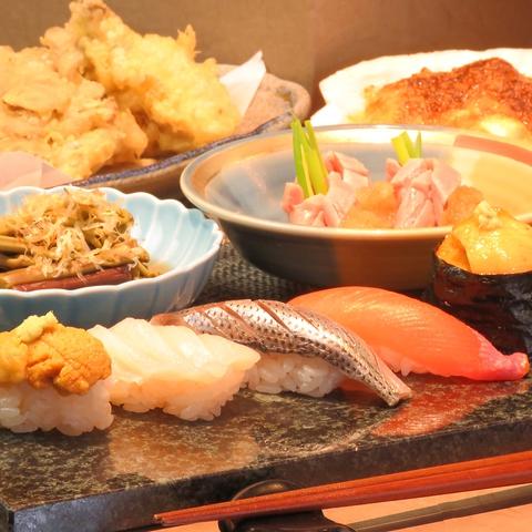 2代目店主が織りなす旨い寿司と創作和食料理。コースは3000円~