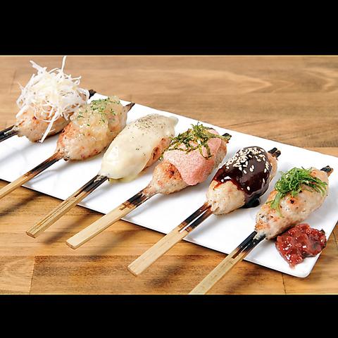 新鮮な宮崎産霧島鶏の店。焼鳥1本100円から約30種の取り揃え!各種宴会や女子会に