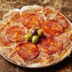 生ハム スペイン産ハモンセラーノとイベリコサラミ (2P~)