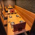 半個室席は最大16名様までご利用が可能です。会社宴会や友人との飲み会、合コンにも最適です!