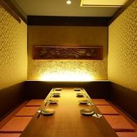 完全個室もご用意。接待や大事な宴席にぜひ…。