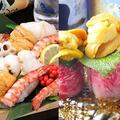 料理メニュー写真Wメイン【豪華絢爛♪海鮮玉手箱】【甘ウニと牛トロ鉄板炙り】