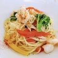 料理メニュー写真海老と彩り野菜のアーリオオーリオ
