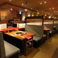各お席は仕切りで区切られておりますので、プライベートな空間で安心してお食事をお楽しみ頂けます!3分に1回、店内換気も行っており安全な空間でお過ごしいただけます。