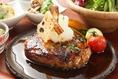 【1汁6菜ランチ】 ごぼうと蓮根の特製根菜ハンバーグ定食