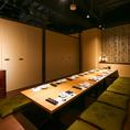 会社宴会・歓送迎会など各種宴会にぴったりの個室席☆16名席を8名様でのご利用も可能です。お気軽にご相談下さい。