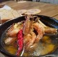料理メニュー写真アヒージョ 甘エビ/牡蠣/砂肝