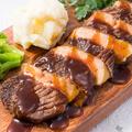 料理メニュー写真霜降り牛たんステーキとフォアグラの挟み焼き