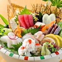 新鮮な魚介・色鮮やかなお料理の大衆割烹。