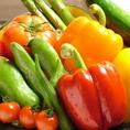 新鮮野菜も豊富にご用意!をそれぞれの食材に合った調理法でご提供致します!