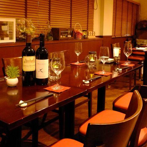 【テーブル席】店内の柔らかい雰囲気が温かみを演出します!新しくなった宴会コースを最高の空間でぜひご利用してみて下さい!相談何でも承ります♪