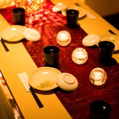 【6~8名様】8名様までご利用可能な少人数宴会向けのお席もご用意しております。居心地の良い雰囲気と共に当店自慢の創作料理をごゆっくりとお楽しみください。