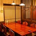 6名様までのテーブル席。ご家族様でのご利用やちょっとした女子会にもどうぞ♪