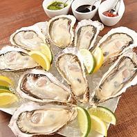 自慢の牡蠣料理の数々◎
