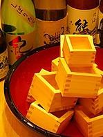 ■厳選日本酒20種類以上置いてあります!