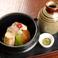 料理メニュー写真焼おにぎりと鯛の餡茶漬け 梅の香り