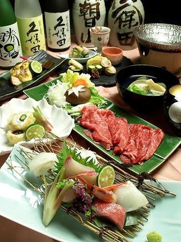 『久保田』『朝日山』で有名な朝日酒造の旨い酒と新潟の旬を堪能できる一軒