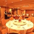 2Fホテル宴会会場:人数に応じて会場の広さも区切れます。パーティーのプロが皆様のご宴会をお手伝いいたします。お気軽にご相談ください